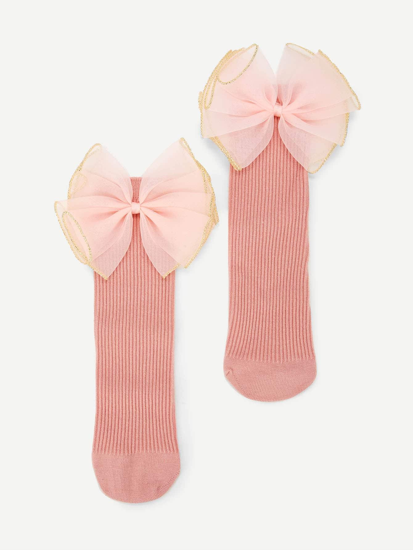 Купить Носки с украшением бабочки для девочки, null, SheIn