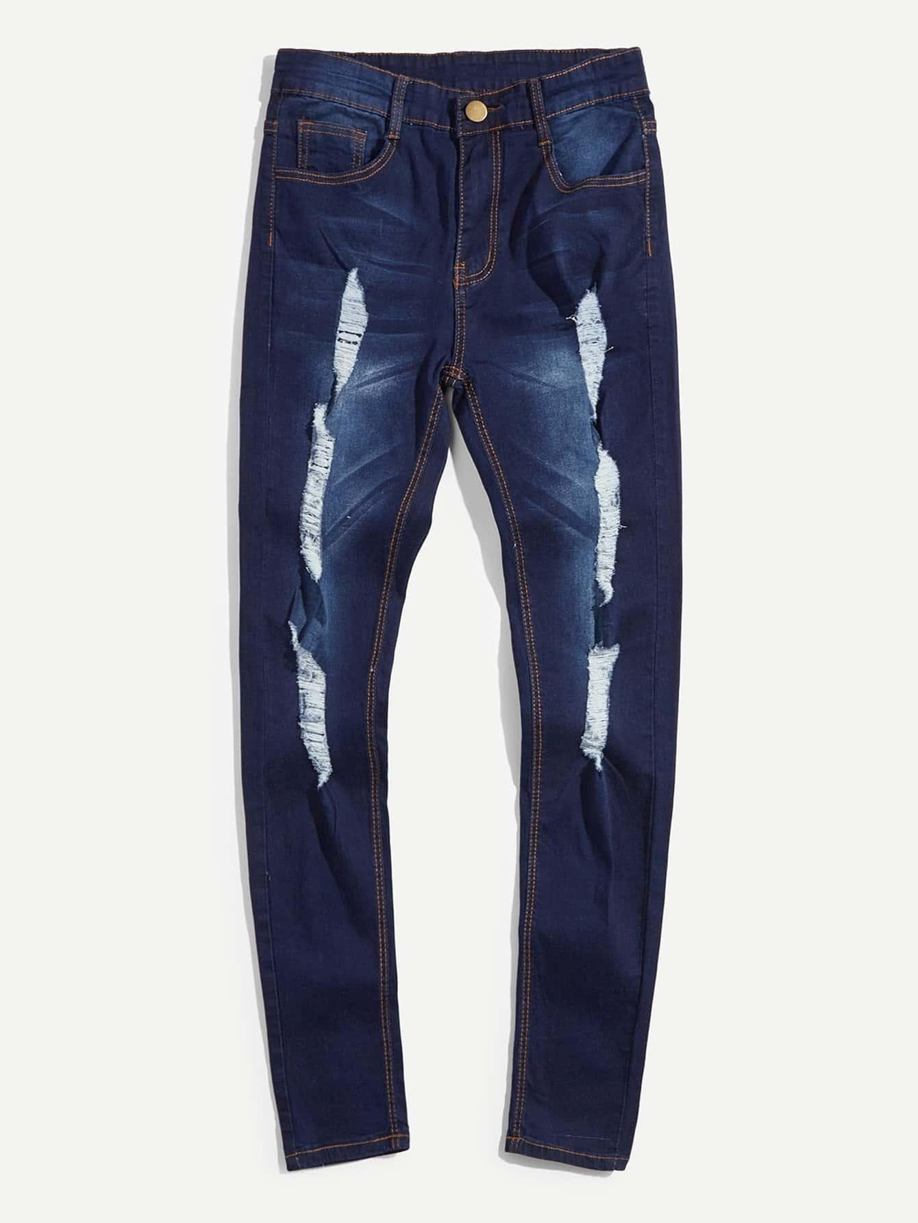 цена на Men Destroyed Skinny Jeans
