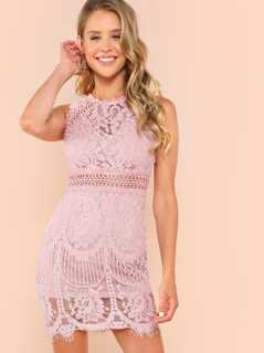 Guipure Lace Bodycon Dress
