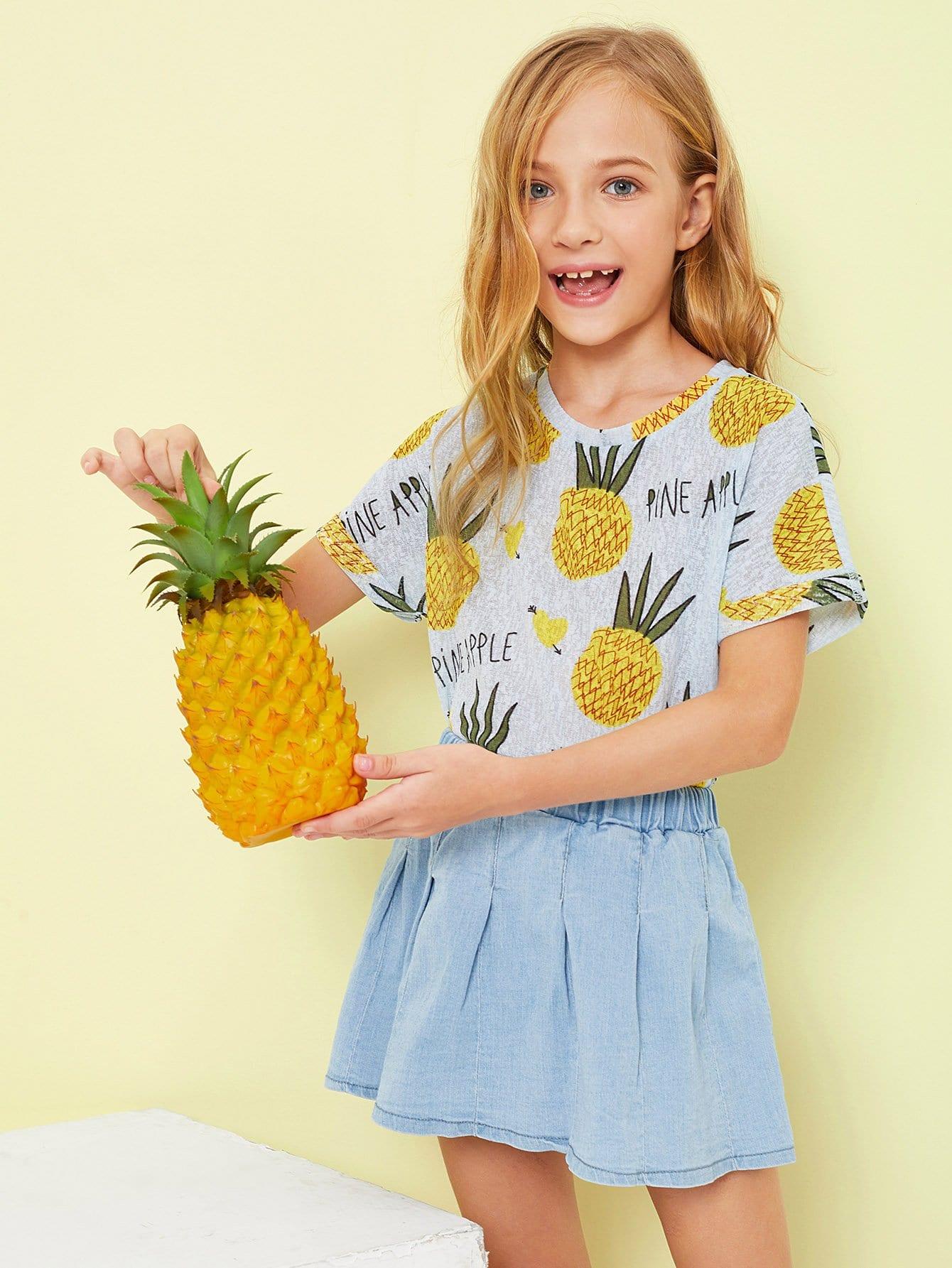 Купить Тройник для ананаса и письма для девочек, Sashab, SheIn