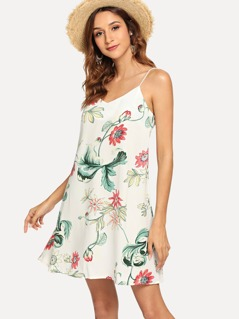 Botanical Print Cami Dress