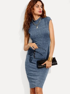 Form Fitting Marled Knit Dress