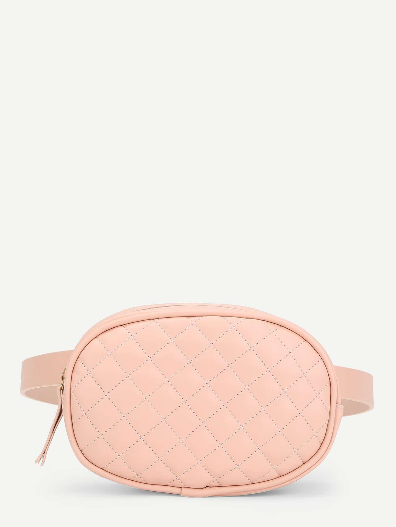 Quilted Detail Bum Bag camouflage detail bum bag