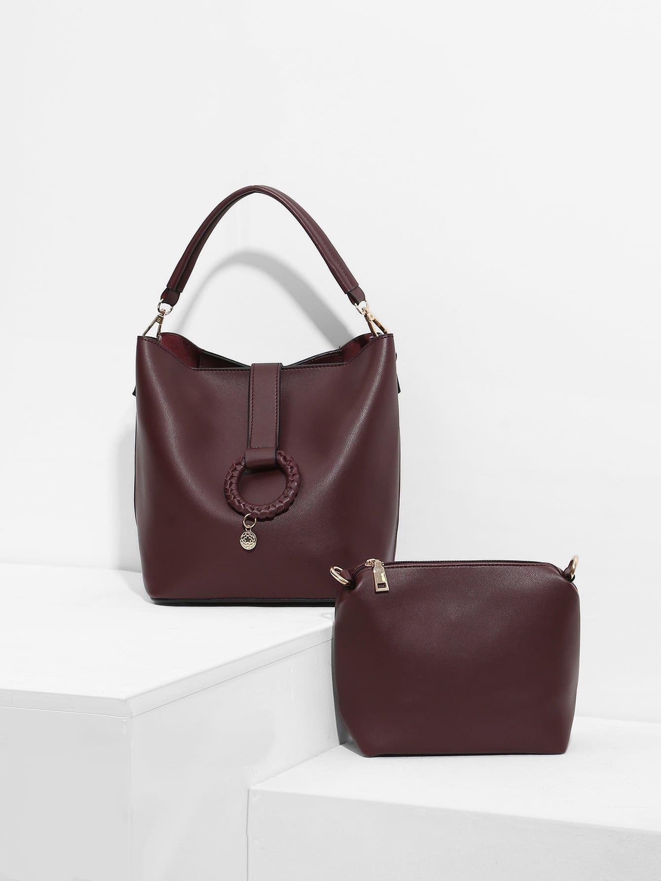 PU Shoulder Bag With Convertible Strap arte lamp потолочная люстра arte lamp dolcemente a1607pl 5ab