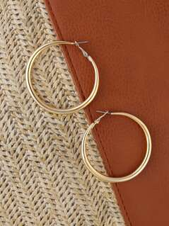Medium Sized Gold Hoop Earrings