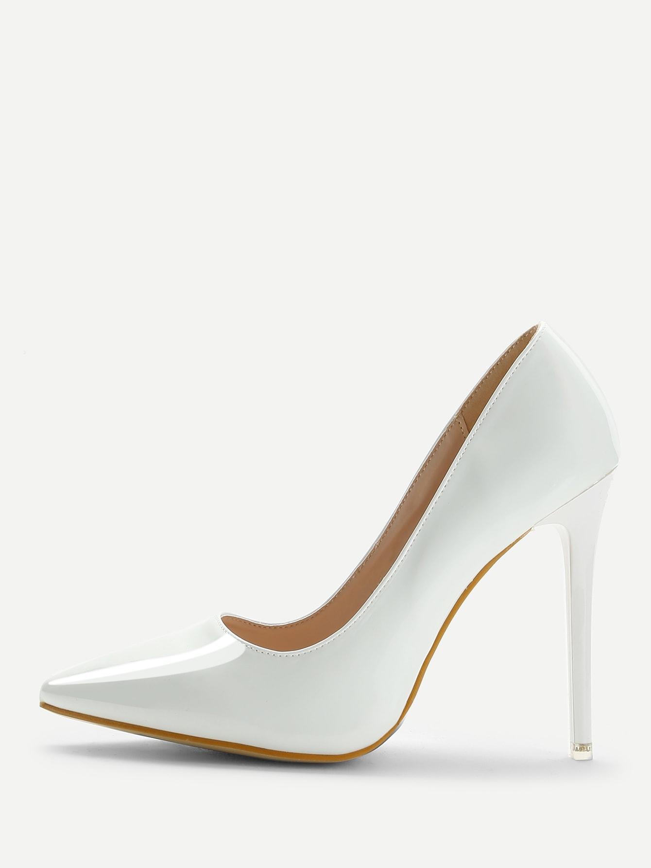 Купить Острый носок флатформа Белый Каблуки, null, SheIn