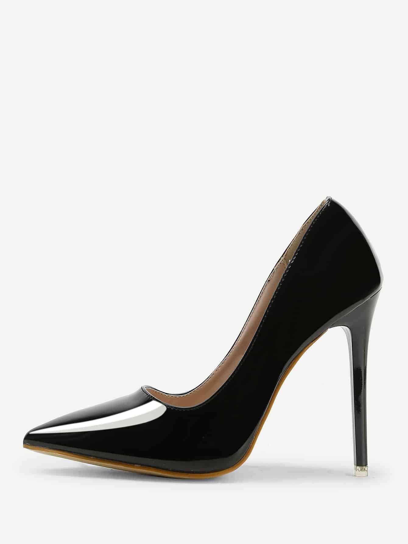 Купить Острый носок флатформа Чёрный Каблуки, null, SheIn