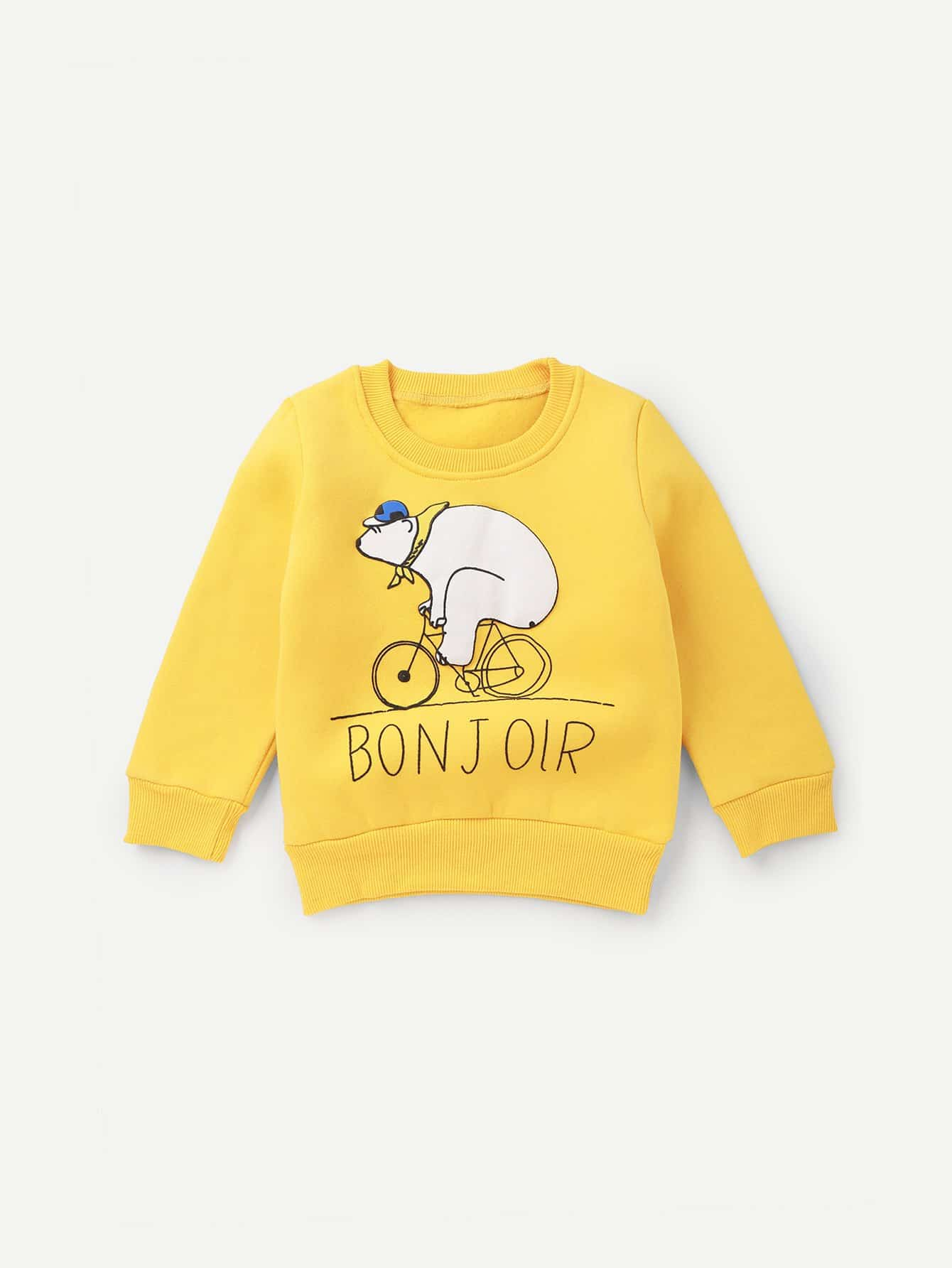 Купить Спортивная футболка с рисунками буквы и мультипликаций для девочки, null, SheIn