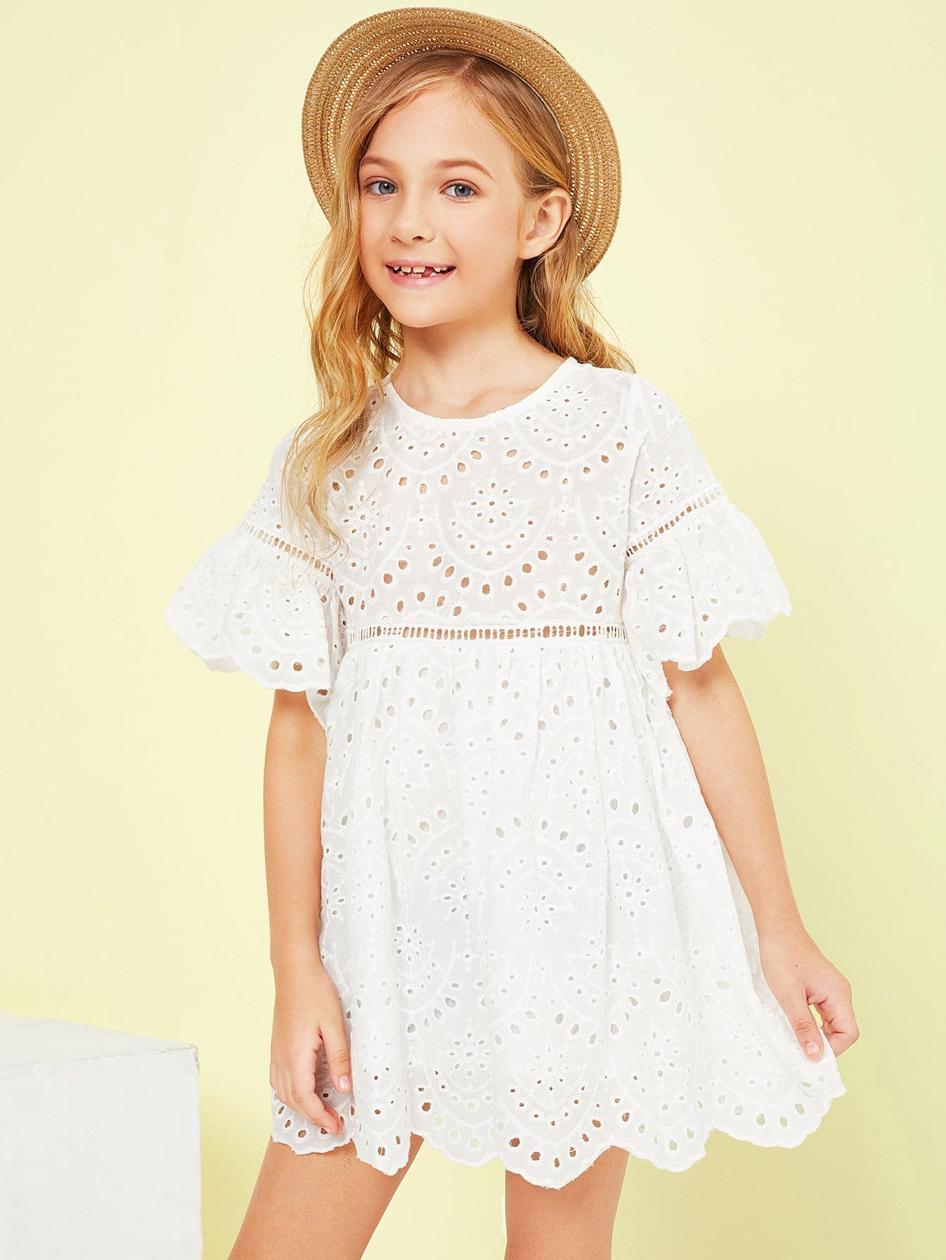Купить Платье с вышивкой из вышивки для девочек, Kassia, SheIn