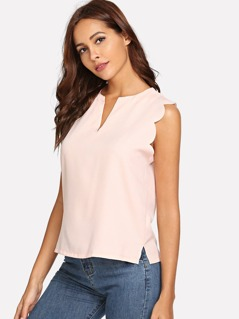 Scallop Trim Shell Top