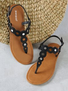 Circle And Stud Detail Sandals