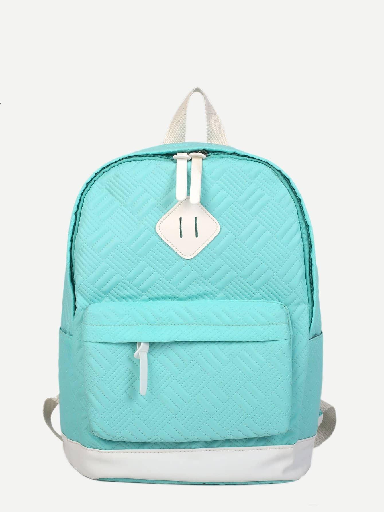 Pocket Front Ribbed Detail Backpack