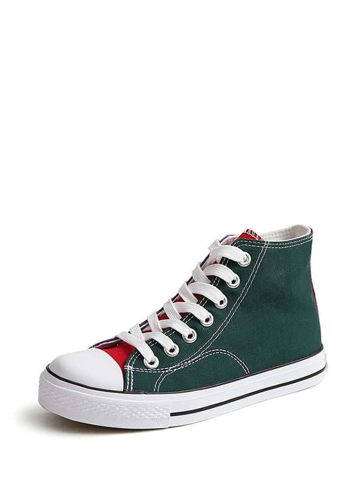 Color Block High Top Sneakers