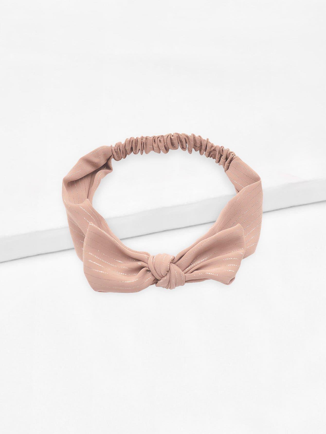 Bow Knot Striped Headband