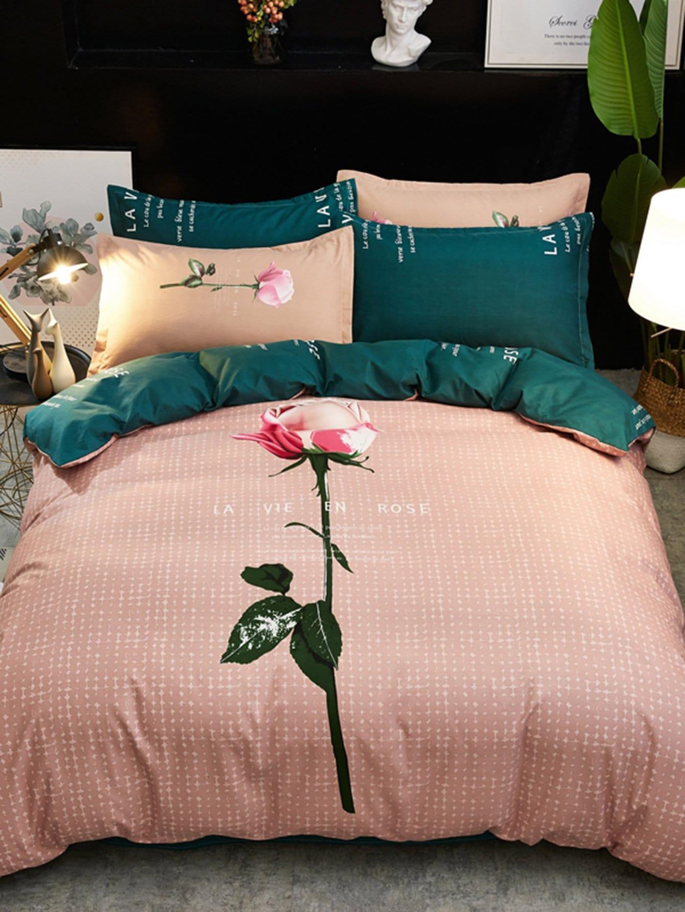 Купить Одеяло с цветной печатью и буквой 1 шт., null, SheIn