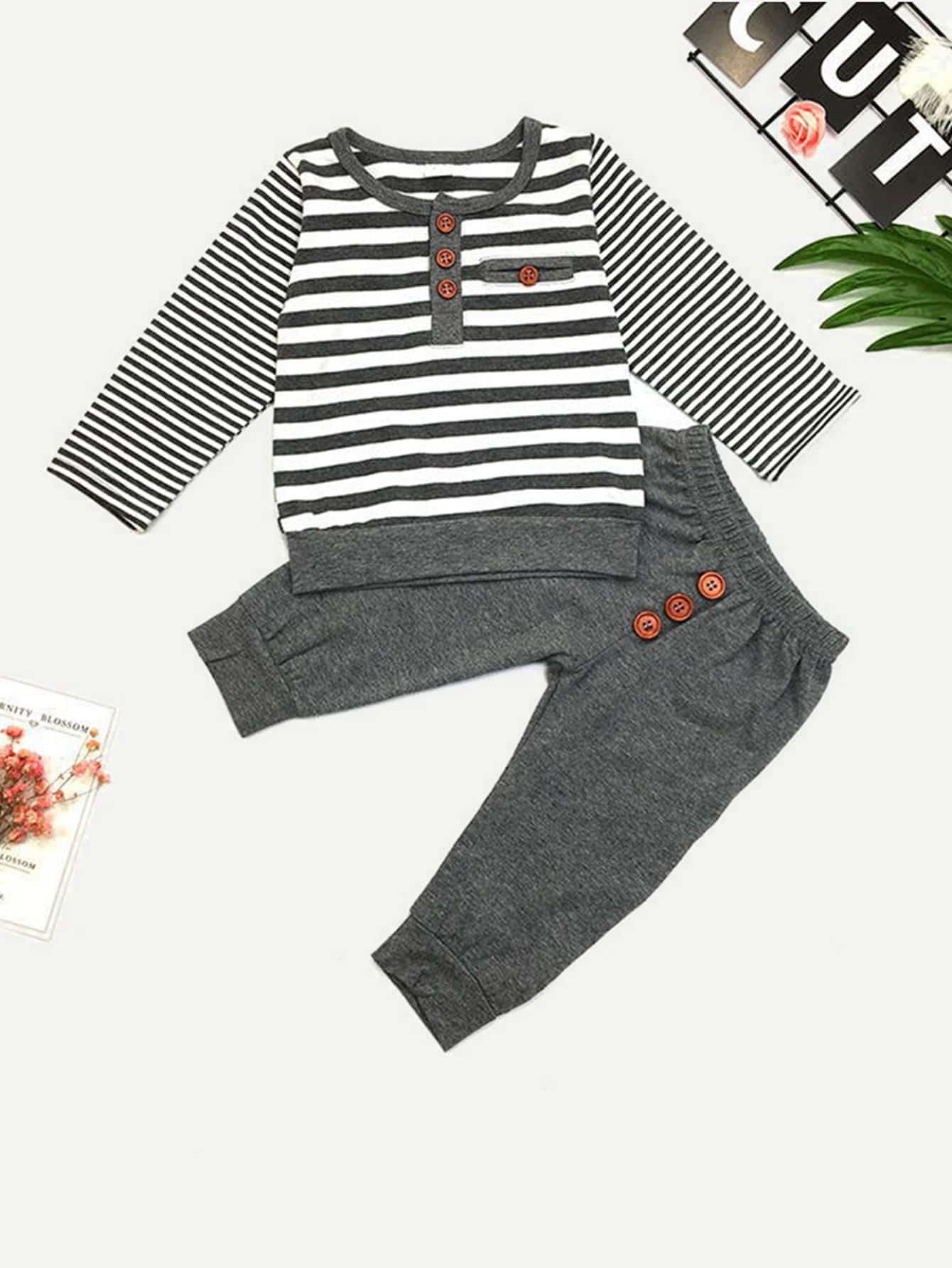 Boys Striped Top With Pants