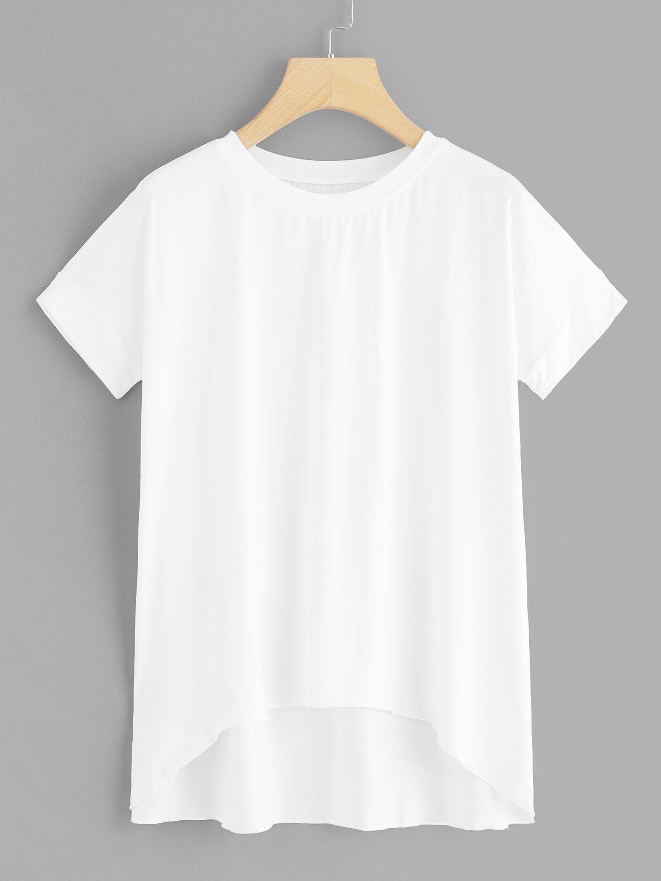 Белая асимметричная футболка