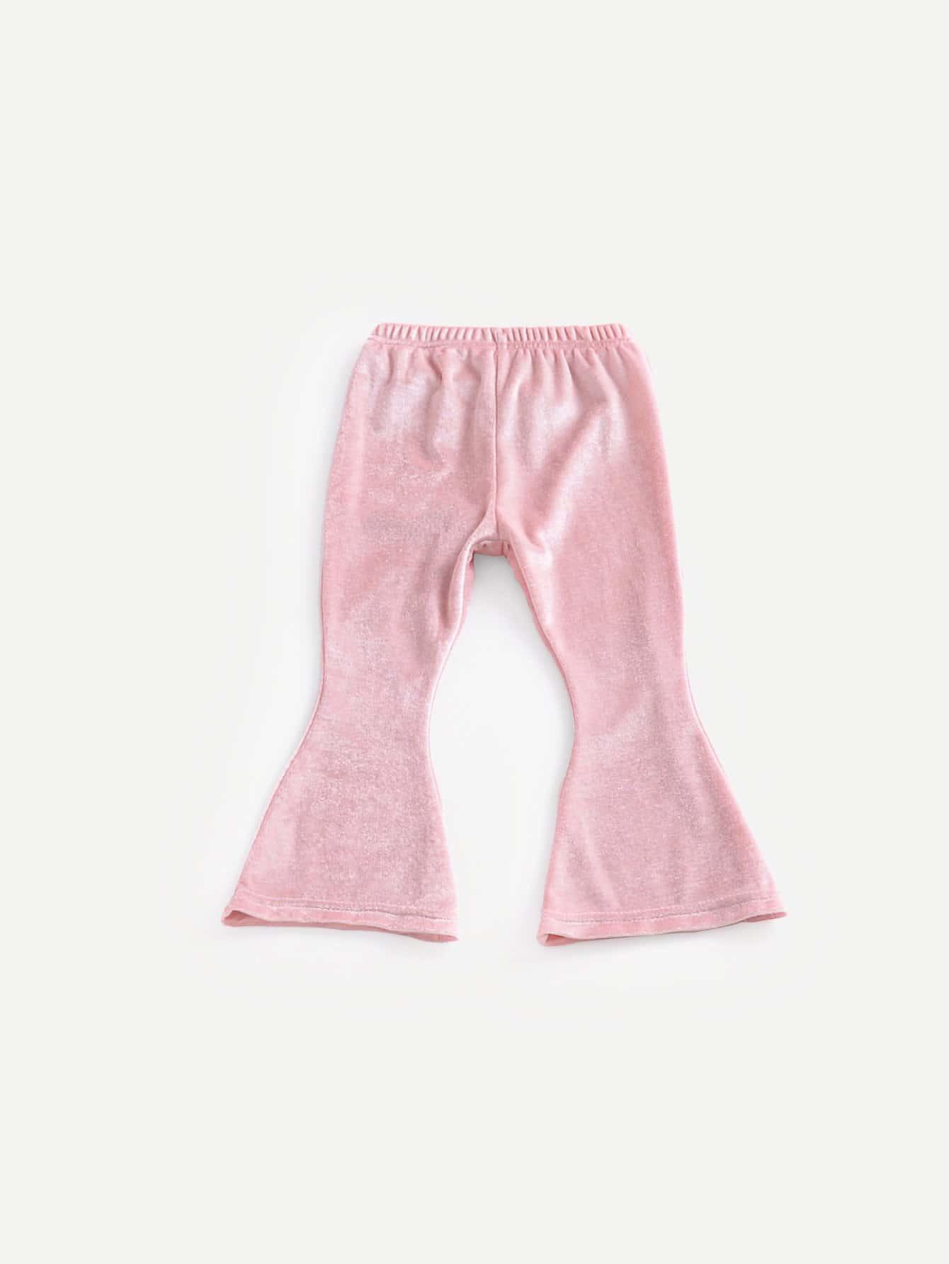 Купить Девочки Клеш Сплошной Брюки от Romwe розового цвета