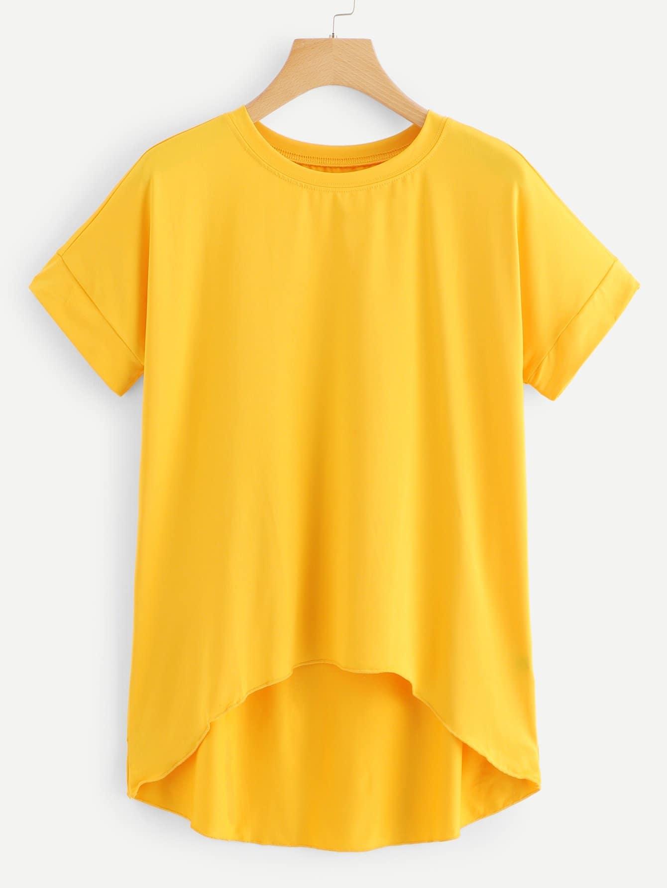 Купить Модная асимметричная футболка, null, SheIn