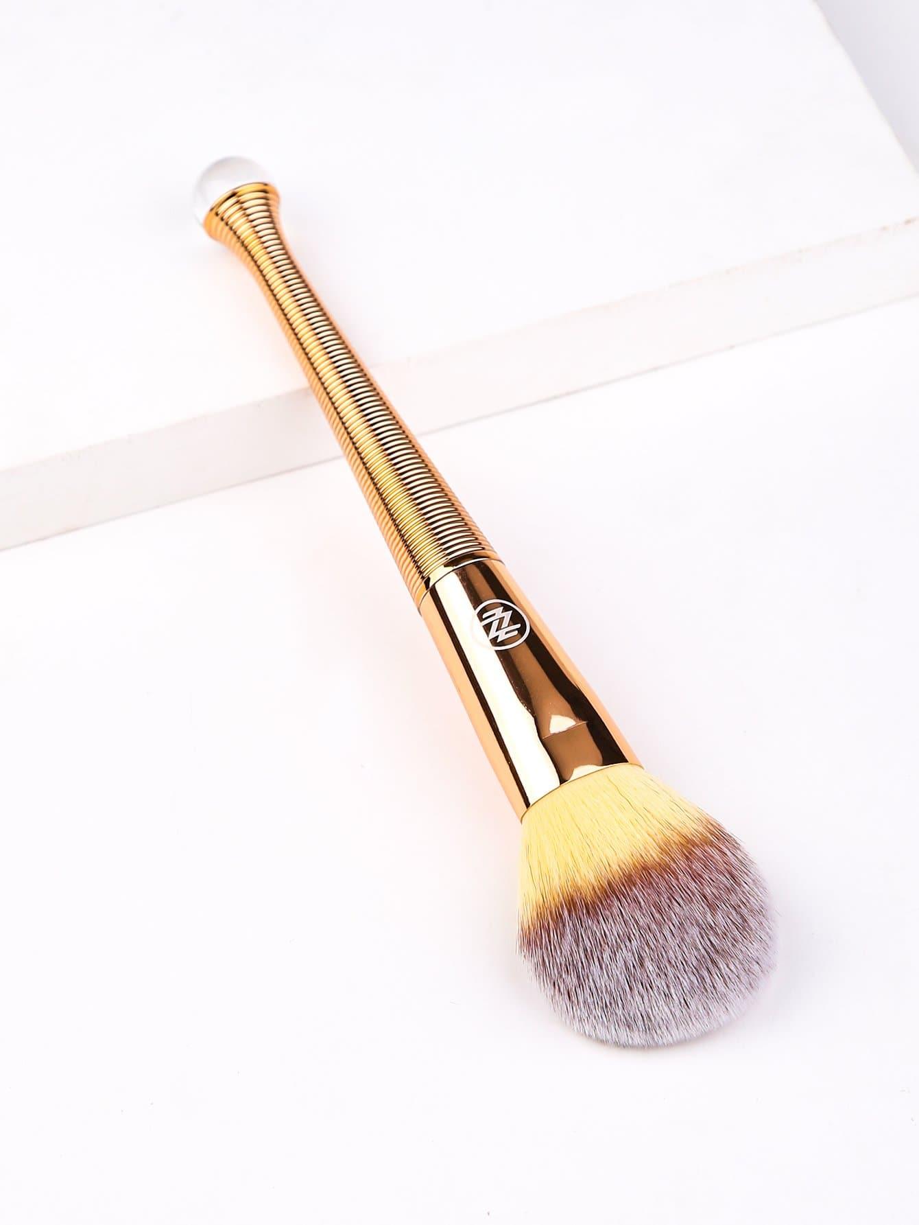 Poignée Métallique En Poudre Pinceau À Maquillage