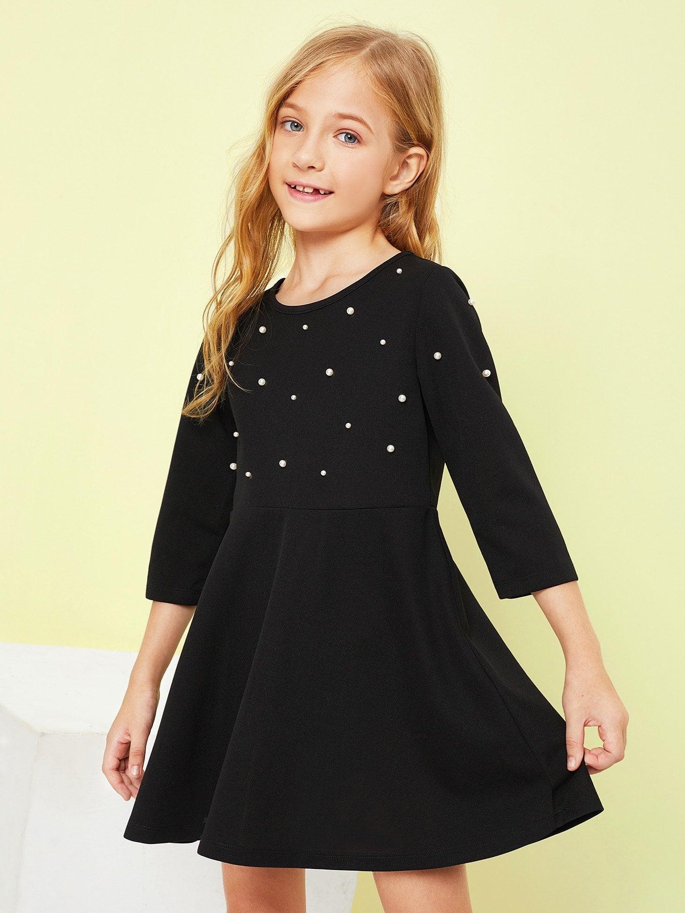 Купить Платье для девочек из перламутрового перца, Kassia, SheIn