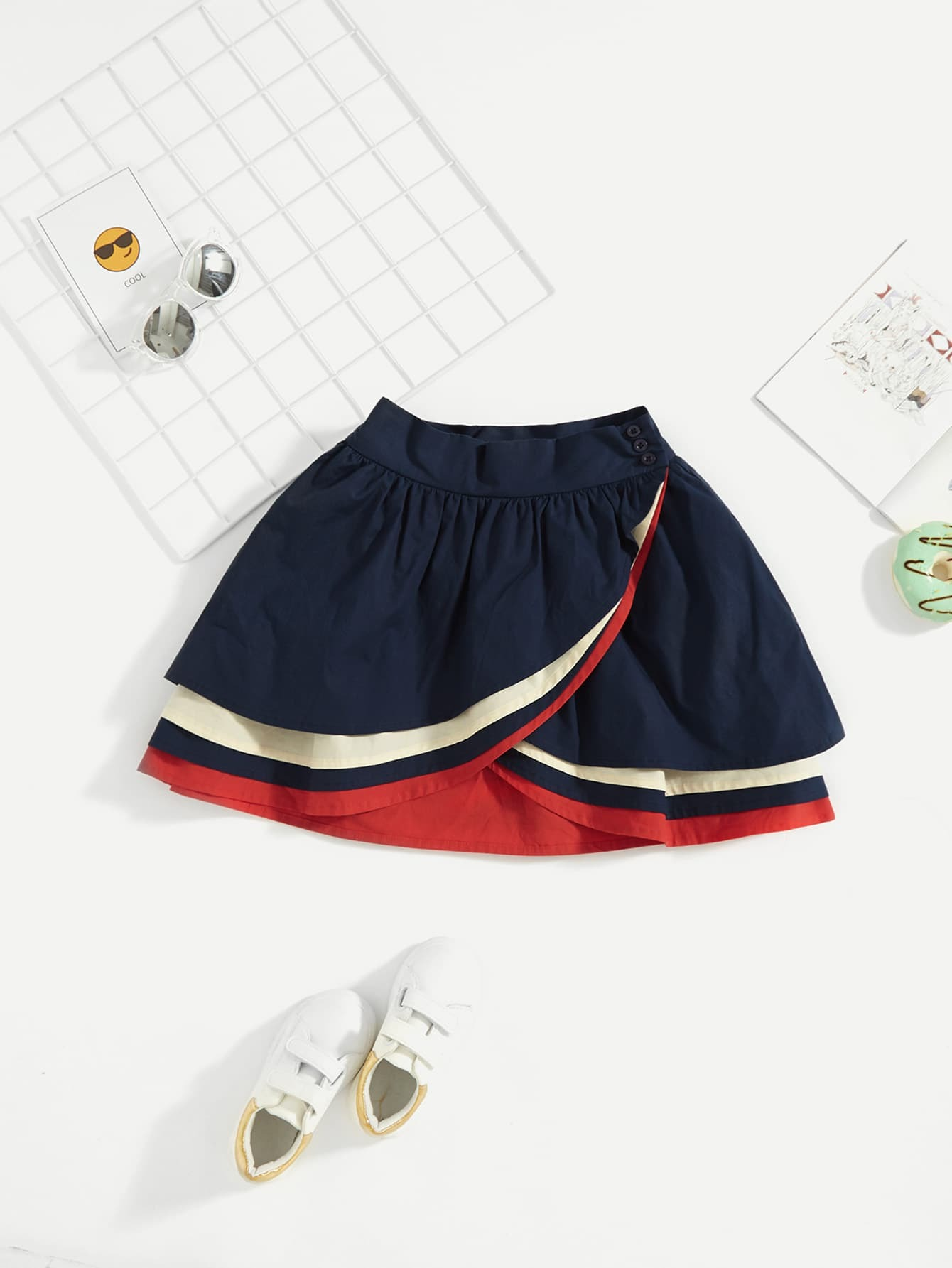 Купить Анимемированная юбка для девочек, null, SheIn