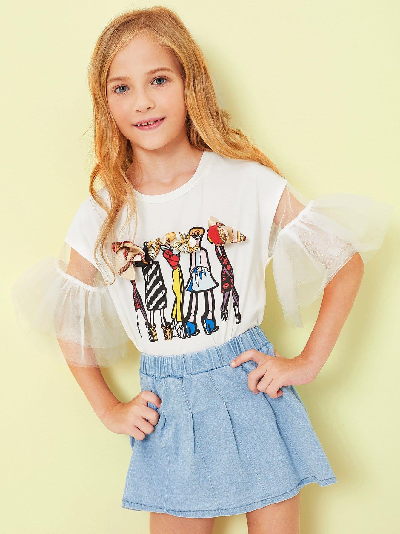 Купить Рисунок для девочек с изображением лука, Kassia, SheIn
