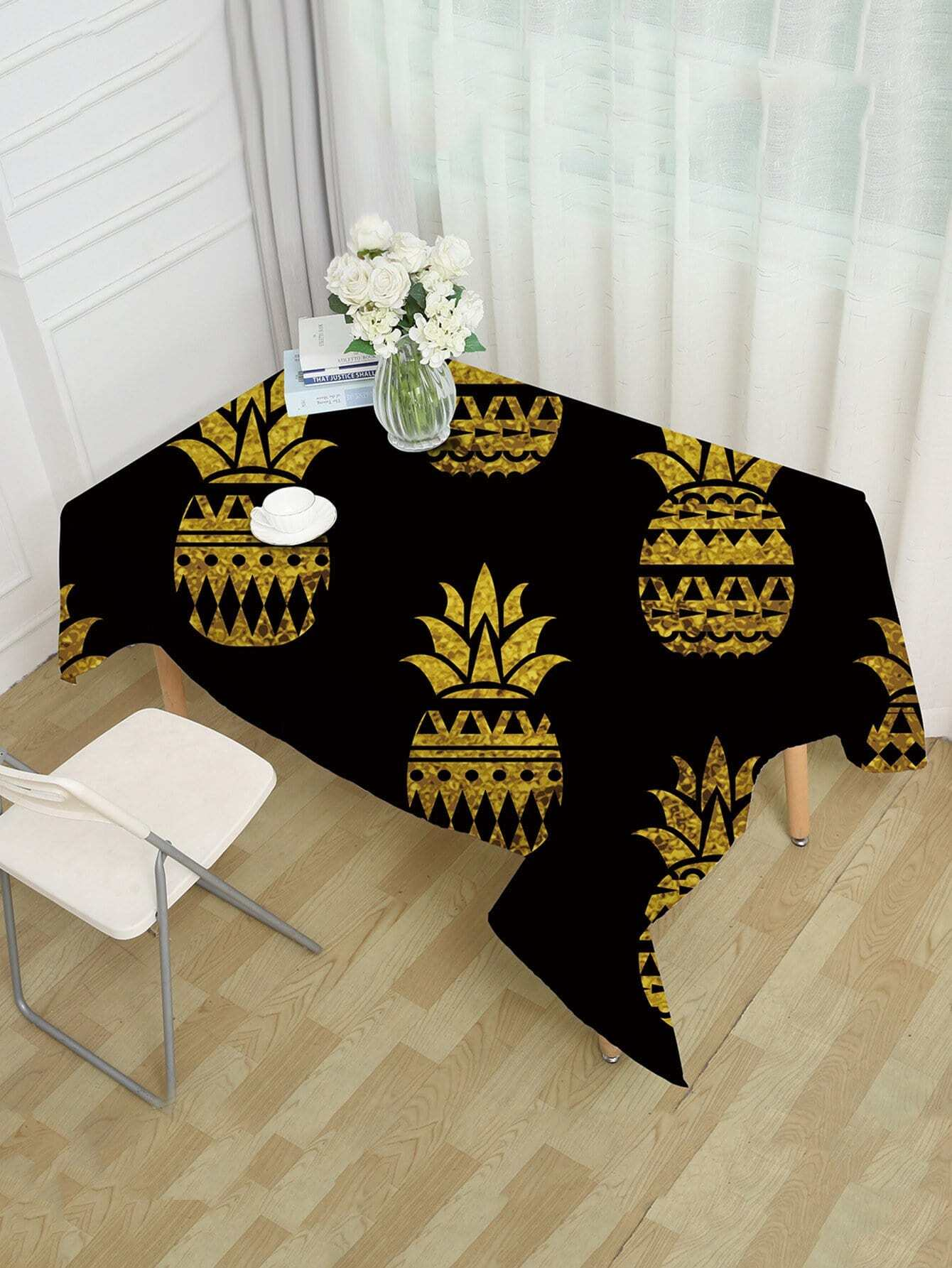 Ananas Muster Tischdecke