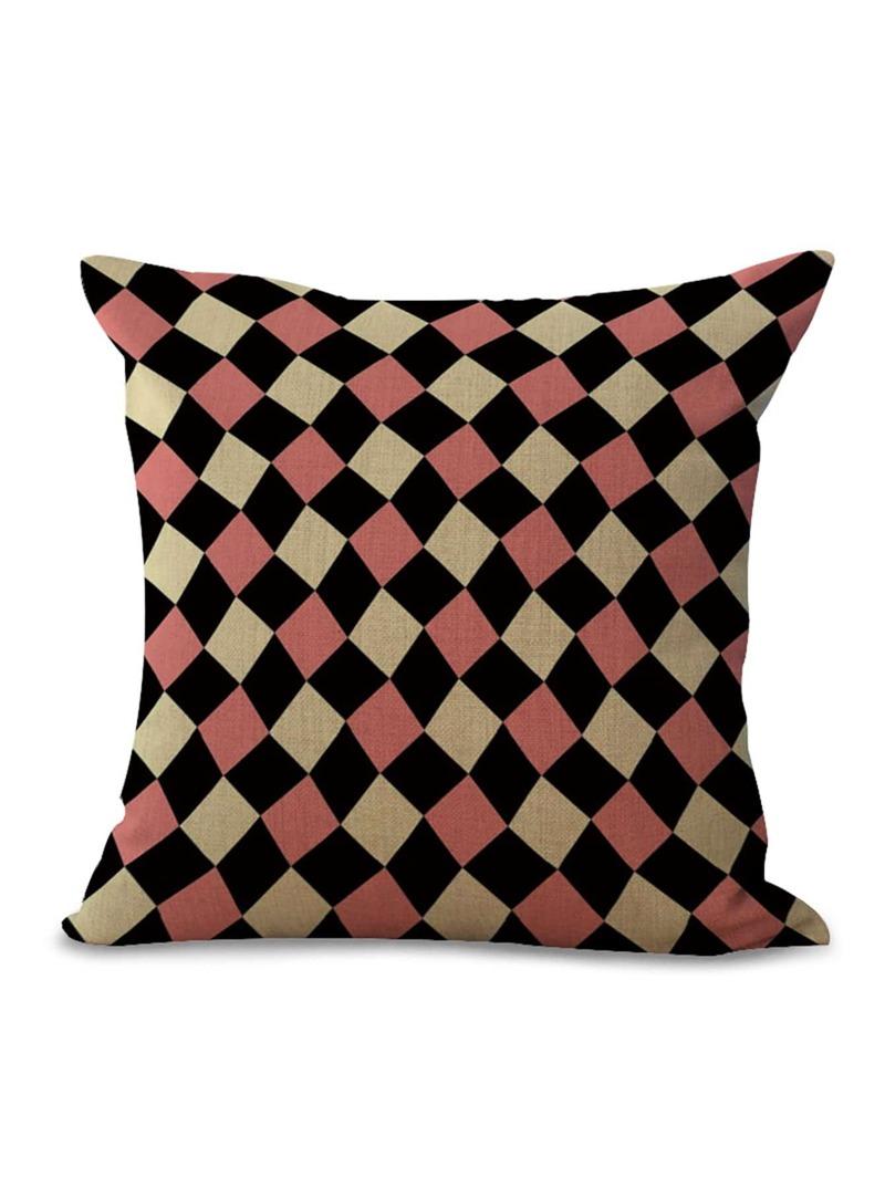 Geometric Print Pillowcase Cover 1pc, Multicolor