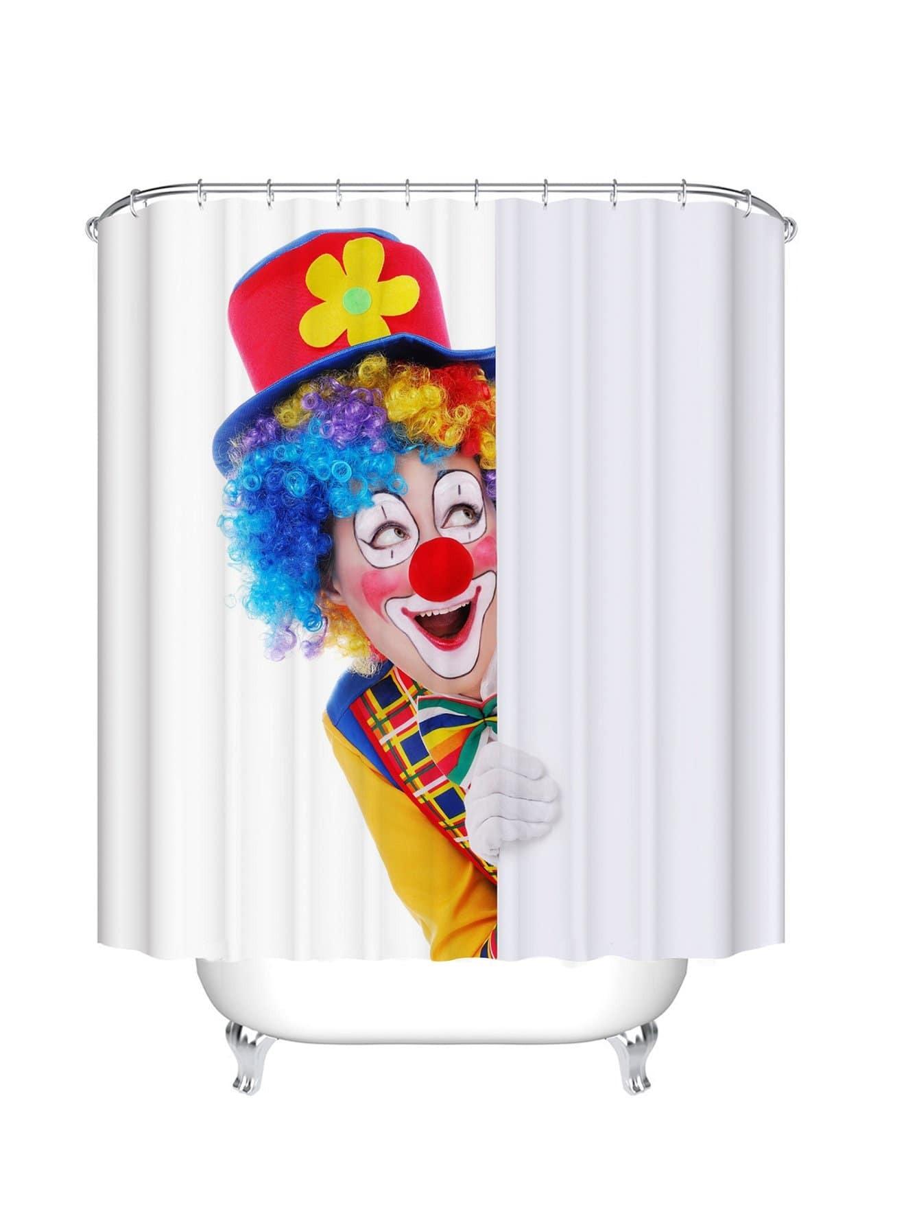 Duschvorhang mit Clownmuster 12pcs Haken