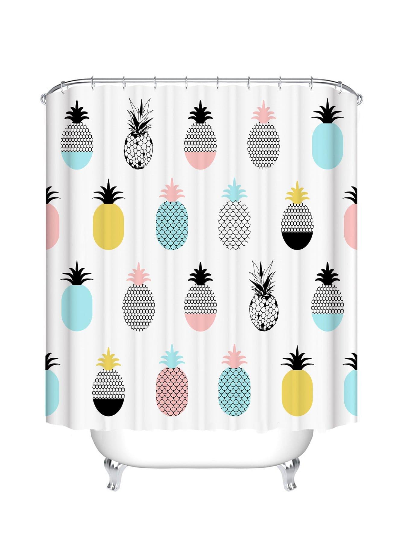 Duschvorhang mit Wassermelone Muster 12pcs Haken