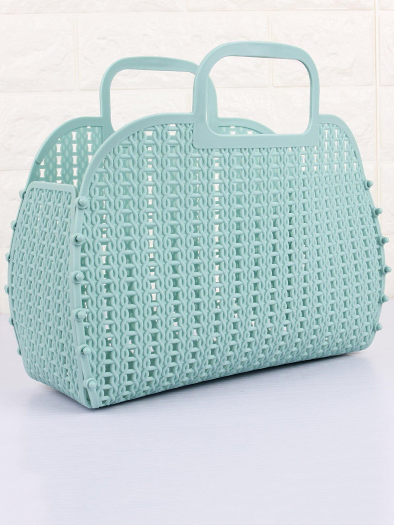 Складная тканая корзина для хранения