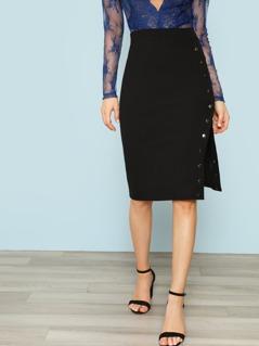 Snap Button Side Rib Skirt