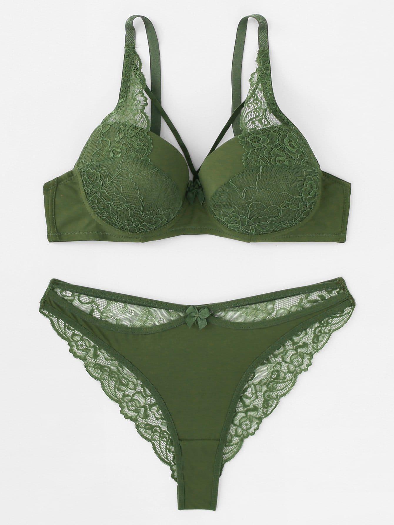 Комплект для белья Lace Contrast