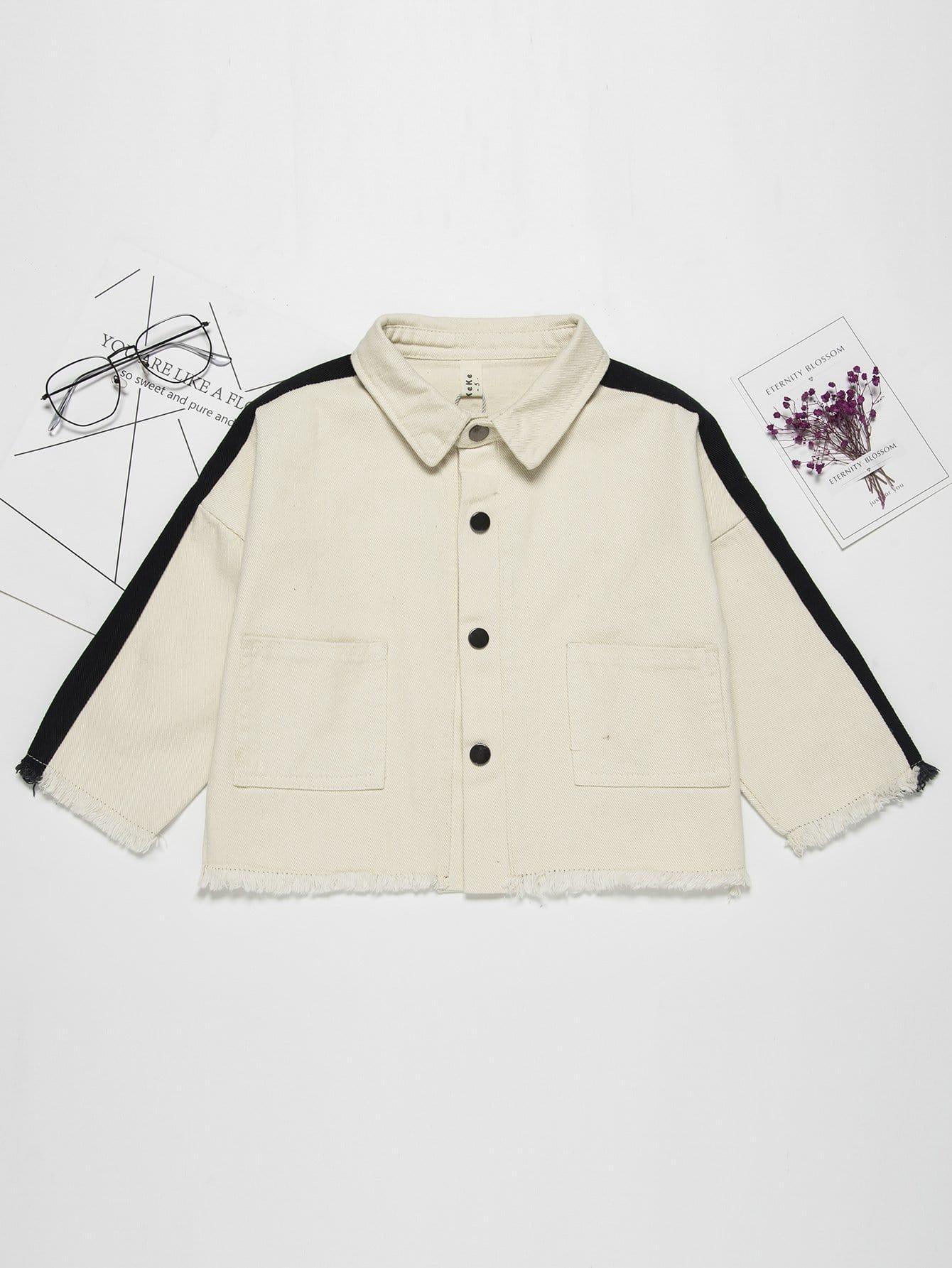 Контрастная Группа Мальчиков Потертые Края Куртки