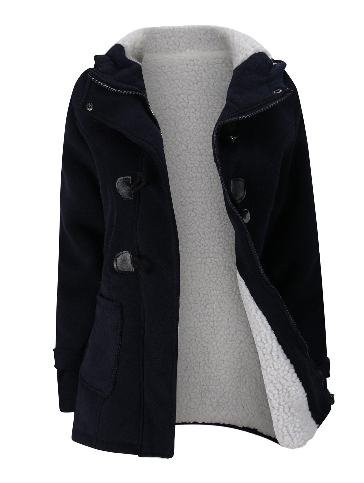 Купить Пальто с украшением застёжки клёш и двух кармана, null, SheIn