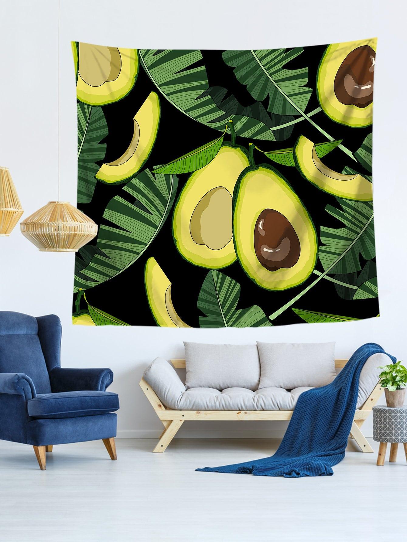 Купить Настенный гобелен с рисунками авокада, null, SheIn