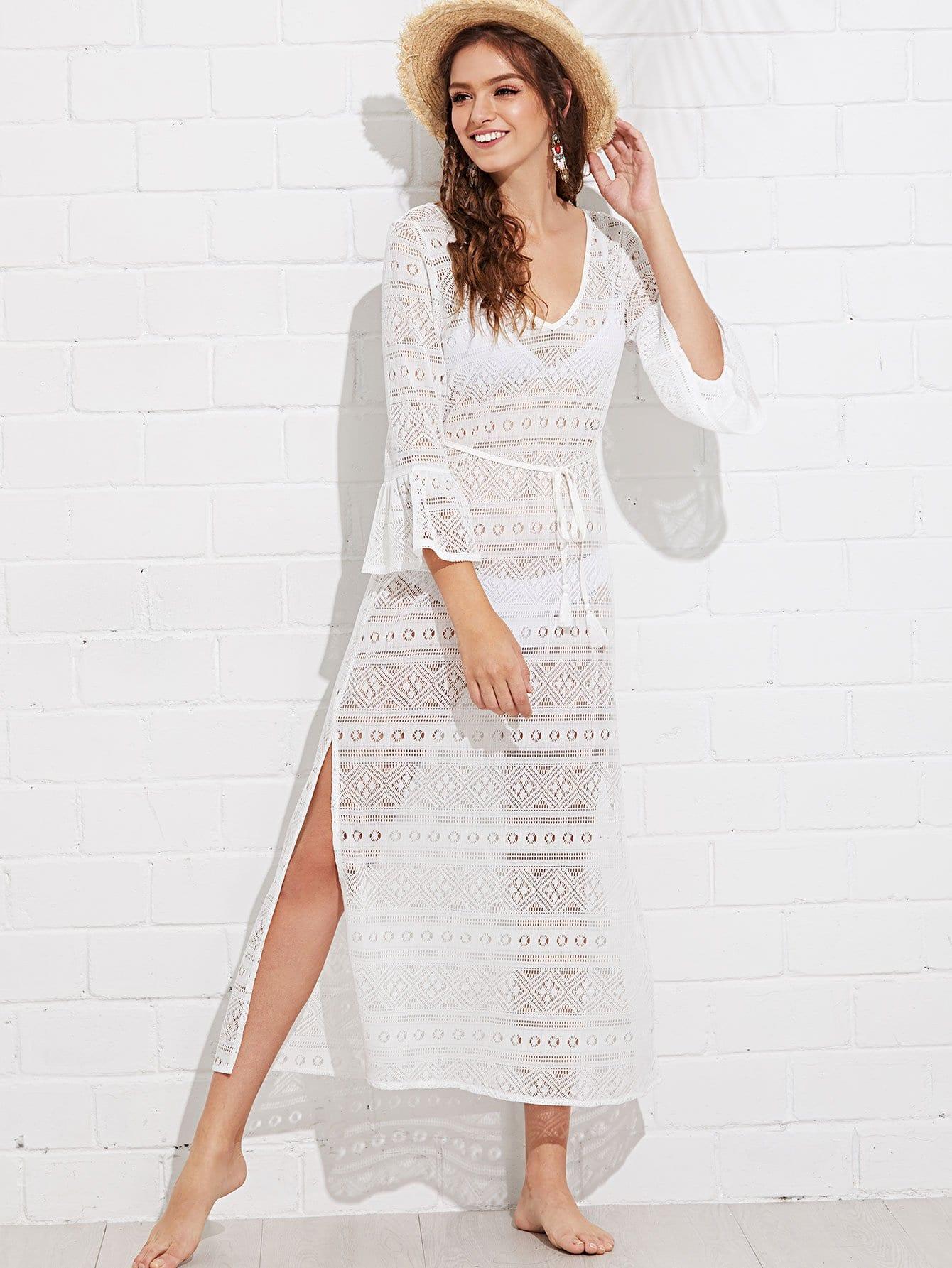 Купить Платье для галстука V-образным вырезом, Luiza, SheIn