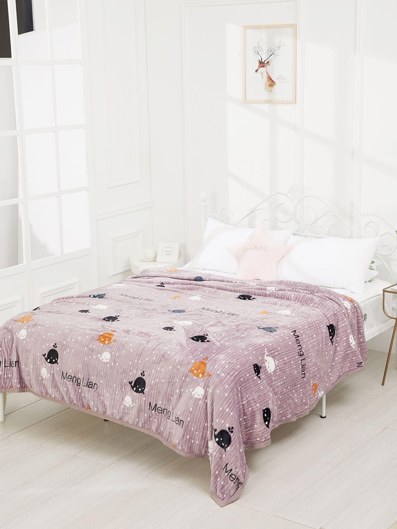 Купить Одеяло с принтом мультики, null, SheIn