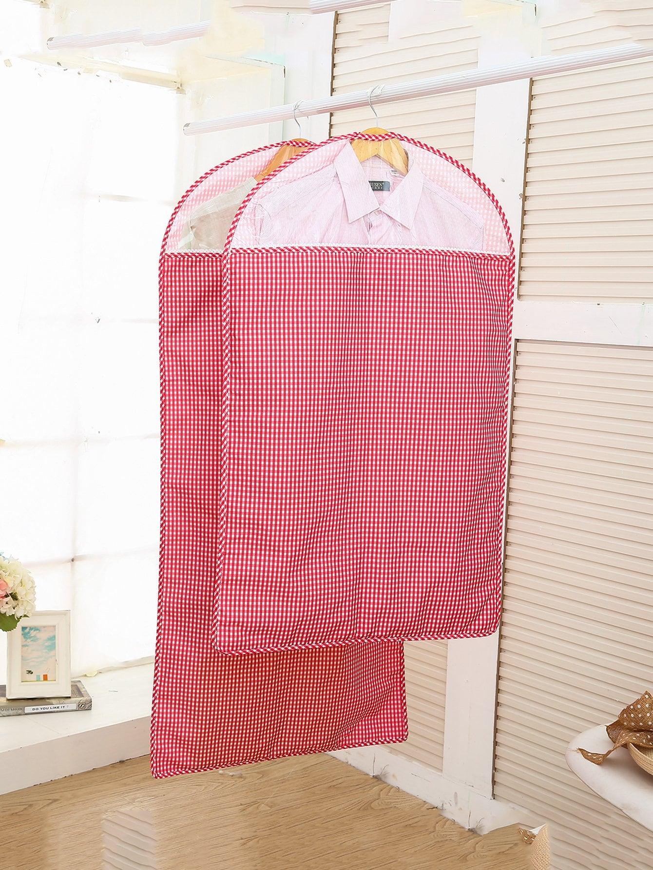 Kleidung Staubschutz 2pcs mit Gingham Muster
