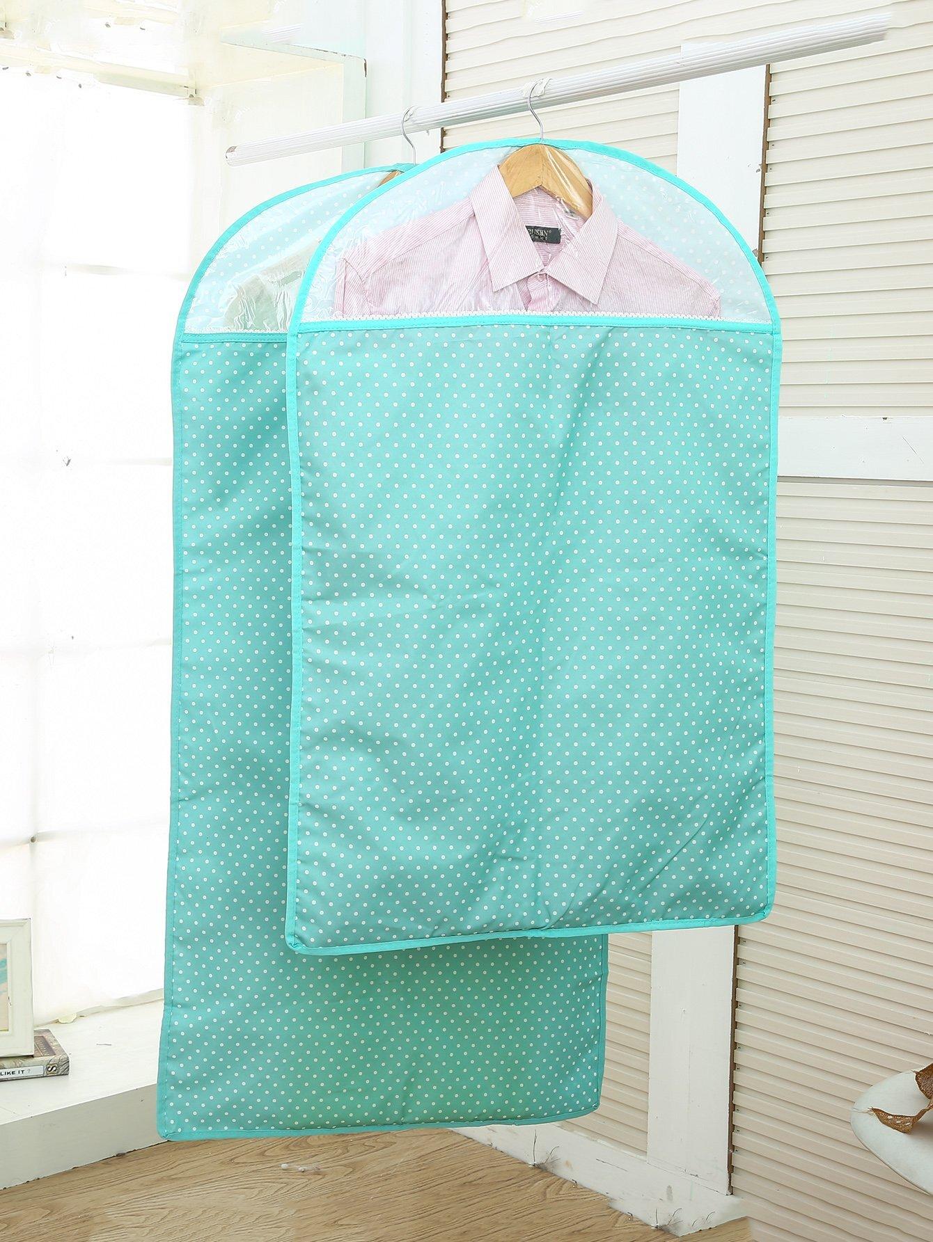 Kleidung Staubschutz 2pcs mit Punkte Muster