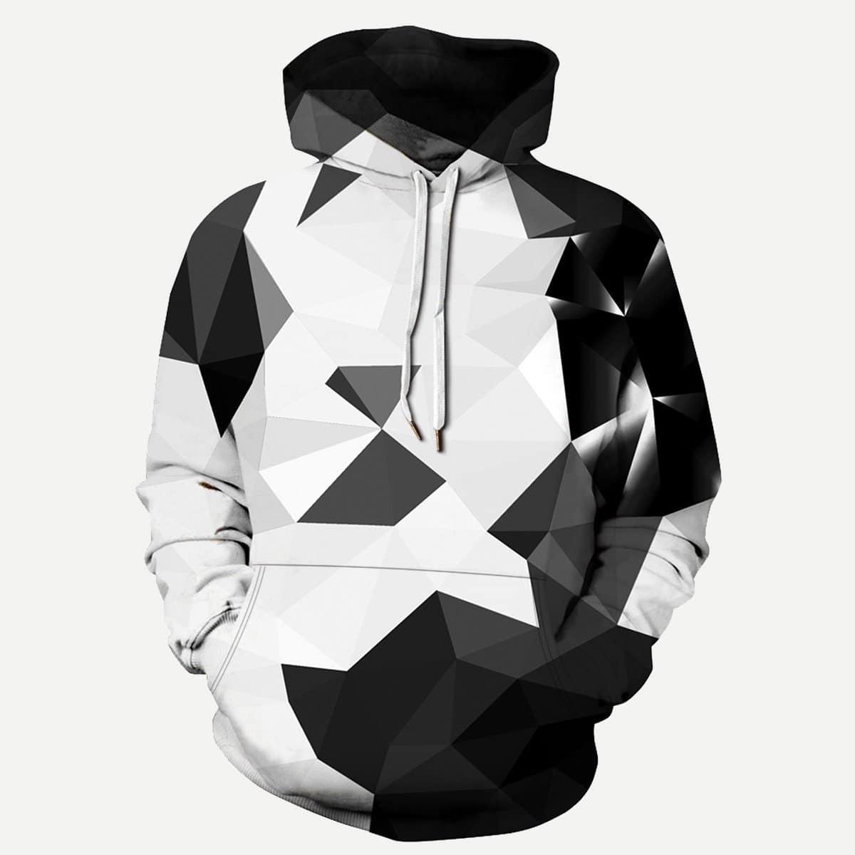 Hoodie met 3D geometrische print