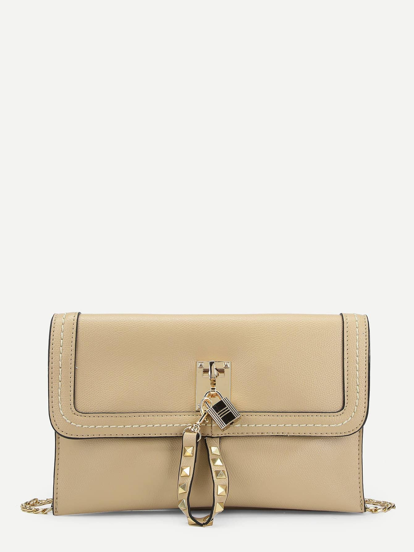 Studded Strap Flap Clutch Bag футболка element howlin ss r dark denim