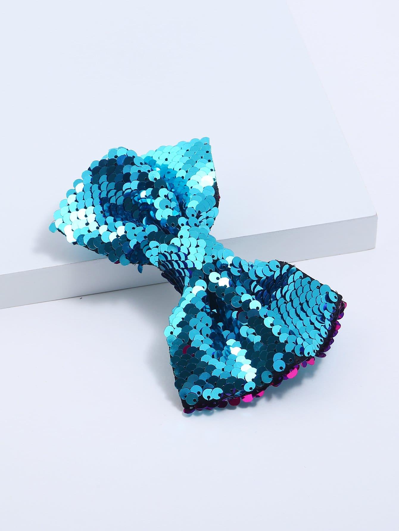 Купить Девушки Sequin украшены Bow Shaped Hair Clip, null, SheIn