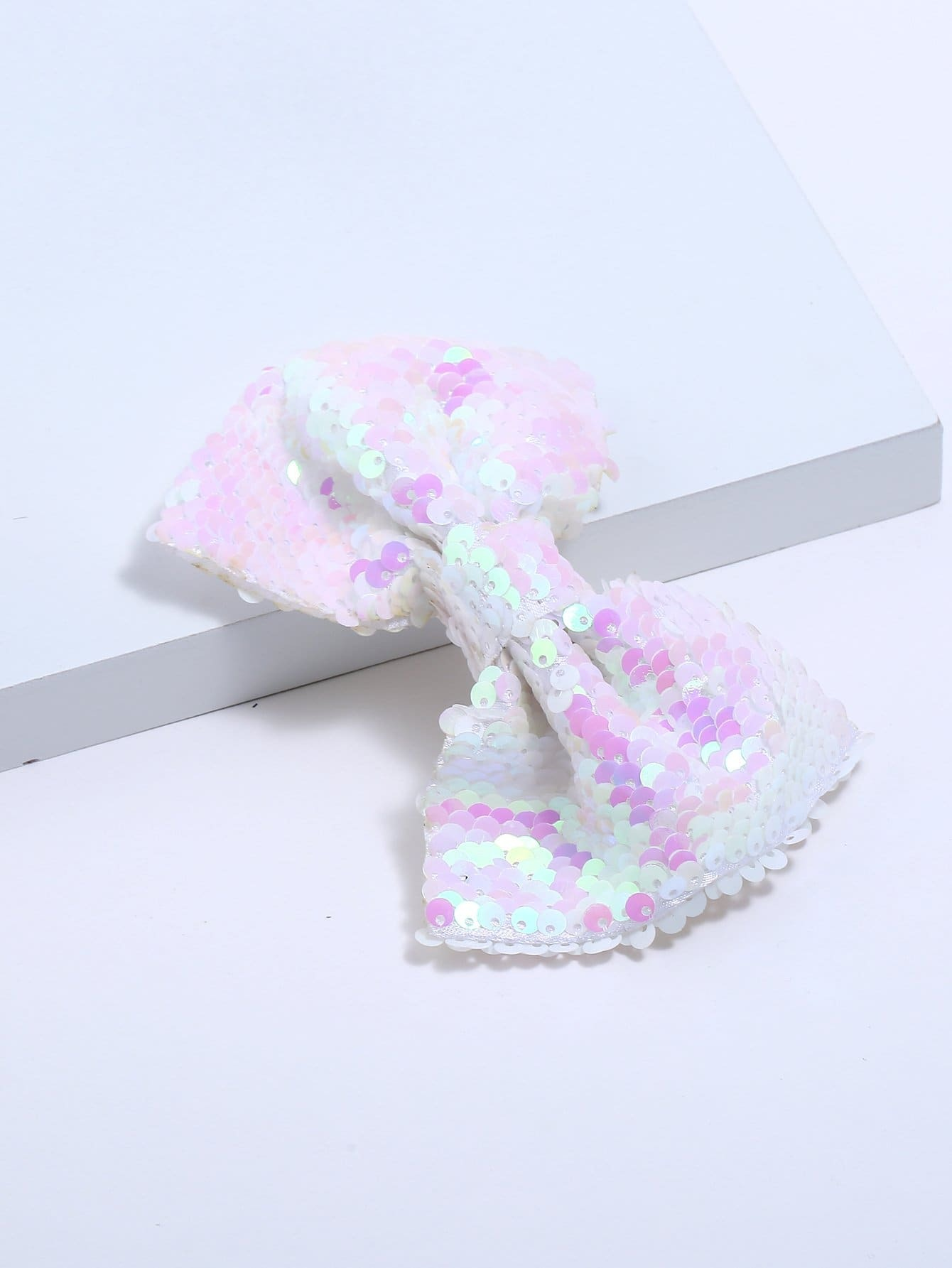 Girls Sequin Decorated Bow Shaped Hair Clip
