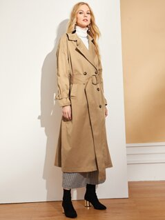 O-Ring Belted Longline Trench Coat