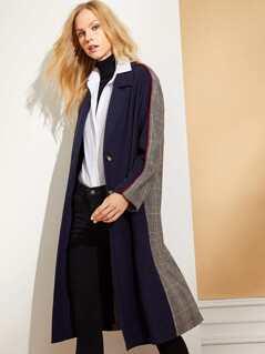 Notch Collar Cut and Sew Coat