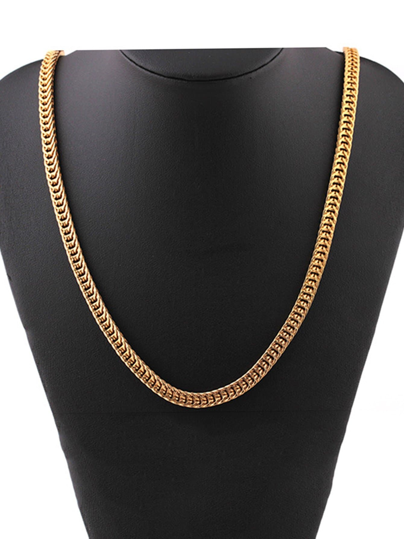 Men Thick Metal Chain Necklace