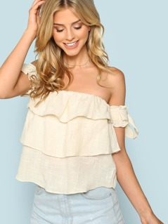 Off The Shoulder Tiered Layer Top