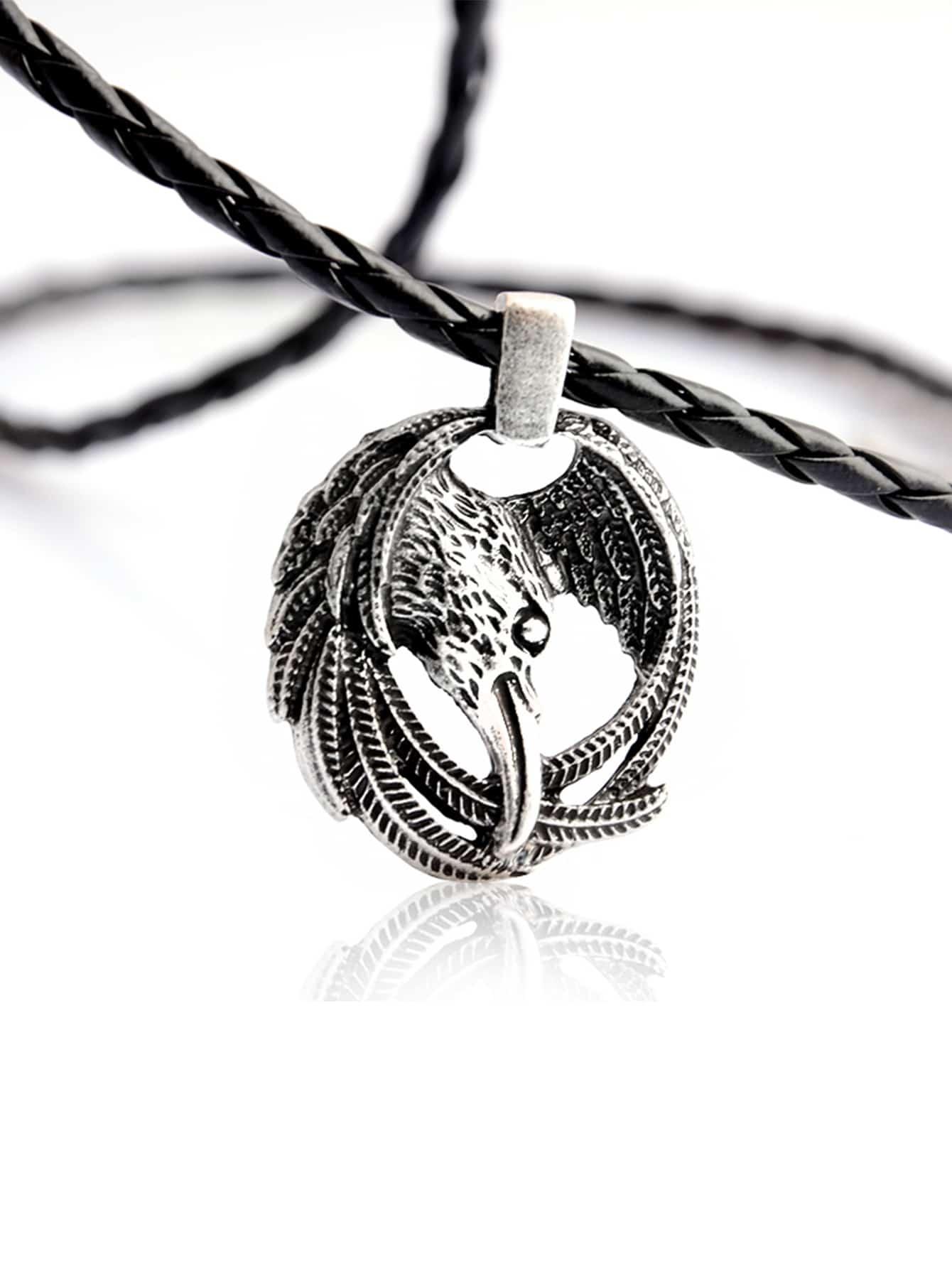 Männer Adler Design Anhänger Halskette